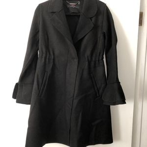 Trina turk sasha bell sleeve wool blend coat
